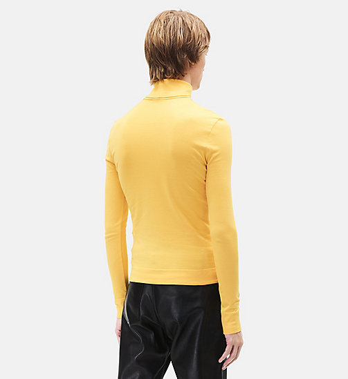 CALVINKLEIN 205 Turtleneck - YELLOW - CALVIN KLEIN MEN - detail image 1