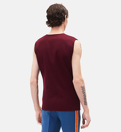 CALVINKLEIN Sleeveless Marching Band Uniform Top - PLUM - CALVIN KLEIN MEN - detail image 1