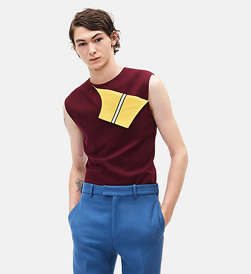 CALVINKLEIN Sleeveless Marching Band Uniform Top - PLUM - CALVIN KLEIN MEN - main image