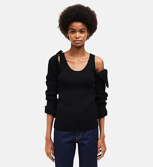 CALVINKLEIN Knit Tank Top - BLACK - CALVIN KLEIN WOMEN - main image