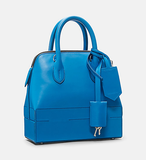 CALVINKLEIN Mini Leather Shoulder Bag - AZURE - CALVIN KLEIN SHOES & ACCESSORIES - detail image 1