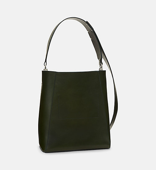 CALVINKLEIN Luxe Leather Bucket Bag - SAGE - CALVIN KLEIN SHOES & ACCESSORIES - detail image 1