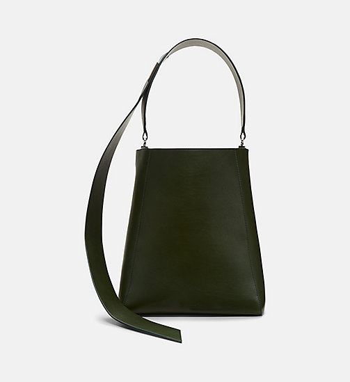 CALVINKLEIN Luxe Leather Bucket Bag - SAGE - CALVIN KLEIN SHOES & ACCESSORIES - main image