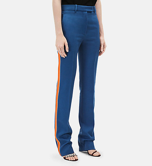 CALVINKLEIN Classic Straight Leg Trousers - STEEL BLUE - CALVIN KLEIN CLOTHES - main image