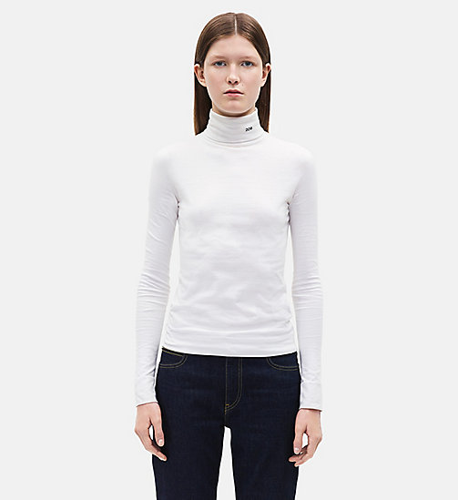 CALVINKLEIN 205 Turtleneck - OPTIC WHITE - CALVIN KLEIN WOMEN - main image