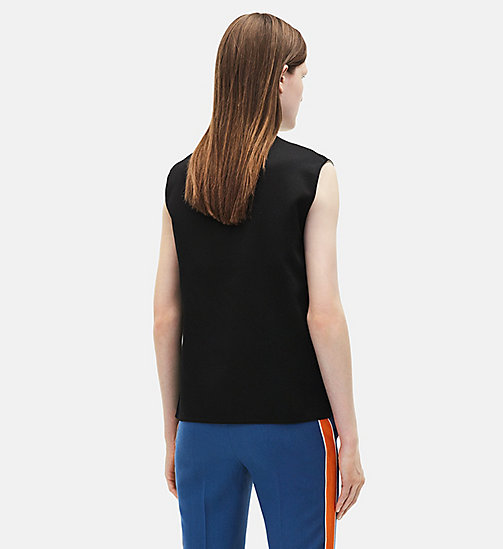 CALVINKLEIN Sleeveless Marching Band Uniform Top - BLACK/WHITE - CALVIN KLEIN WOMEN - detail image 1