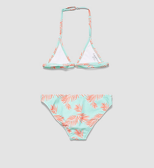 CALVINKLEIN Girls Triangle Bikini Set - ID Print - EXOTIC LEAF PR BEACH GLASS - CALVIN KLEIN Up to 40% - detail image 1