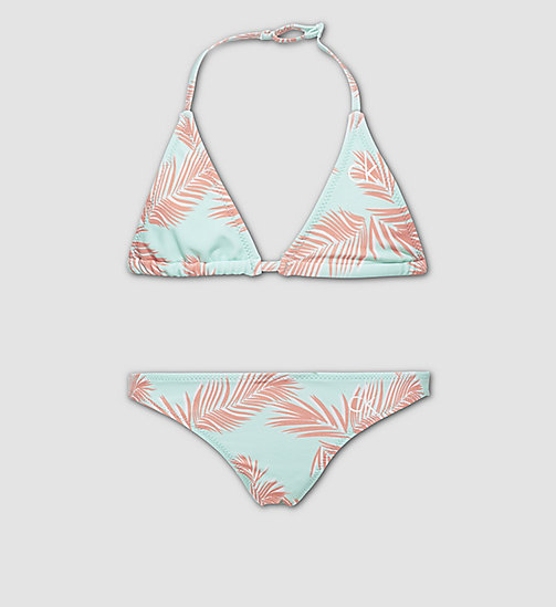 CALVINKLEIN Girls Triangle Bikini Set - ID Print - EXOTIC LEAF PR BEACH GLASS - CALVIN KLEIN Up to 40% - main image