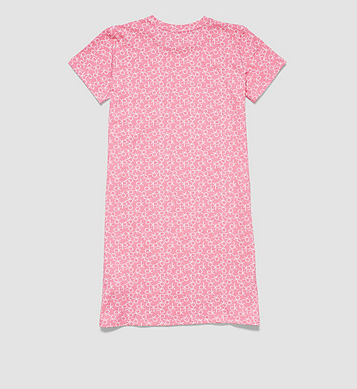 CALVINKLEIN Girls Nightdress - Modern Cotton - CK REPLAY LOGO BUBBLEGUM PINK - CALVIN KLEIN PYJAMAS - detail image 1
