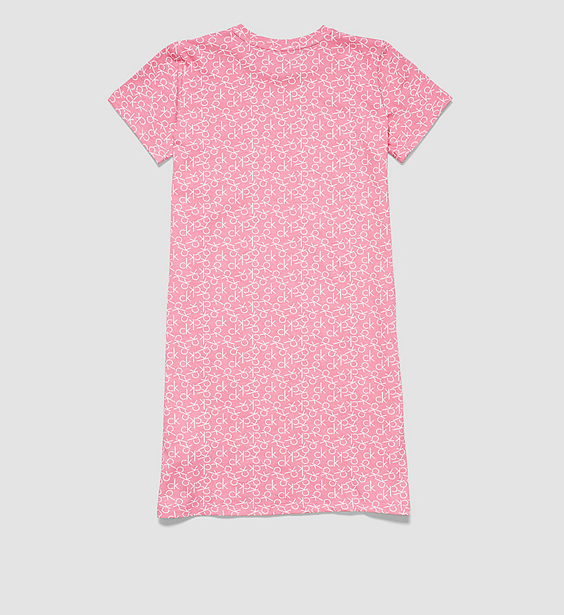 CALVINKLEIN Girls Nightdress - Modern Cotton - CK REPLAY LOGO BUBBLEGUM PINK - CALVIN KLEIN UNDERWEAR - detail image 1