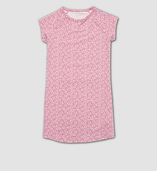 CALVINKLEIN Girls Nightdress - Modern Cotton - CK REPLAY LOGO BUBBLEGUM PINK - CALVIN KLEIN PYJAMAS - main image