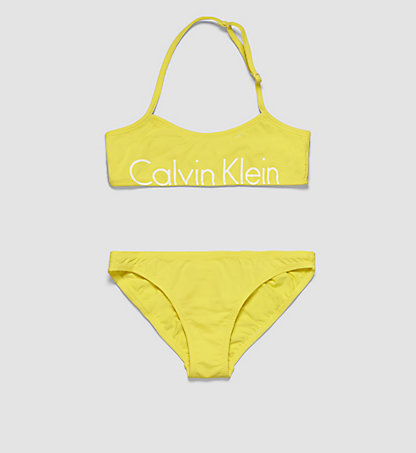 CALVIN KLEIN SWIMWEAR Girls Bandeau Bikini Set - Placed Logo G80G800007701