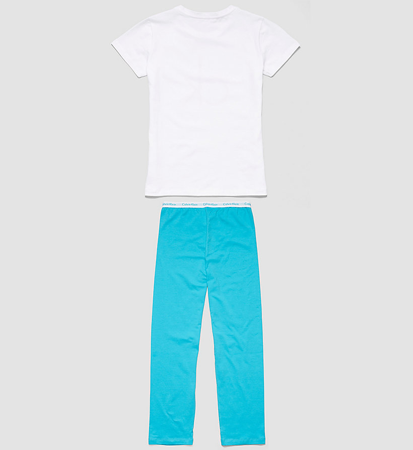 CALVINKLEIN Girls PJ Set - Modern Cotton - WHITE W/ BLUEBIRD - CALVIN KLEIN UNDERWEAR - detail image 1