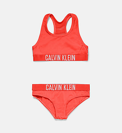 CALVIN KLEIN SWIMWEAR Girls Bralette Bikini Set - Intense Power G80G800017011