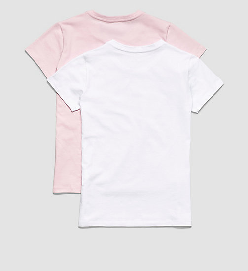 CALVINKLEIN 2 Pack Girls T-shirts - Modern Cotton - 1 UNIQUE / 1 WHITE - CALVIN KLEIN PYJAMAS - detail image 1