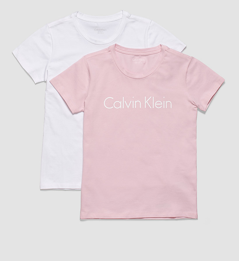 CALVINKLEIN 2 Pack Girls T-shirts - Modern Cotton - 1 UNIQUE / 1 WHITE - CALVIN KLEIN UNDERWEAR - main image