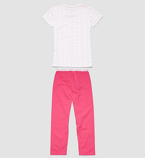 CALVINKLEIN Girls PJ Set - Modern Cotton - LG WHITE W/PURPLE - CALVIN KLEIN WOMEN - detail image 1