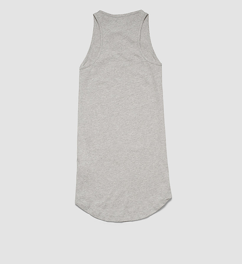 CALVINKLEIN Girls Beach Tank Dress - GRAY HEATHER - CALVIN KLEIN DRESSES - detail image 1