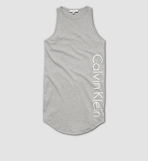 CALVINKLEIN Girls Beach Tank Dress - GRAY HEATHER - CALVIN KLEIN DRESSES - main image