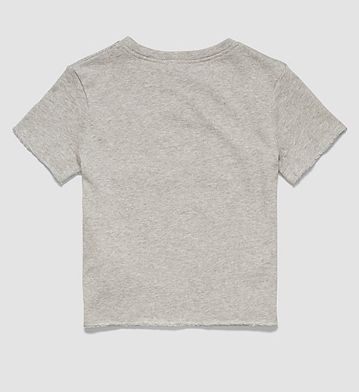 CALVINKLEIN Girls Beach Cropped Top - GREY HEATHER - CALVIN KLEIN  - detail image 1