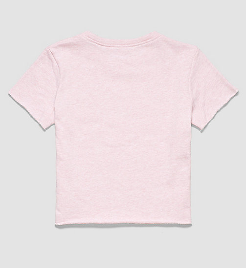 CALVINKLEIN Girls Beach Cropped Top - PINK HEATHER - CALVIN KLEIN CLOTHING - detail image 1