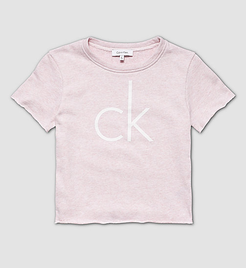 CALVINKLEIN Girls Beach Cropped Top - PINK HEATHER - CALVIN KLEIN  - main image