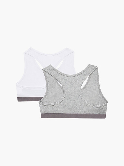 CALVINKLEIN 2-pack meisjes bralettes - Customized Stretch - 1 GREY HEATHER/ 1 WHITE - CALVIN KLEIN ONDERGOED - detail image 1
