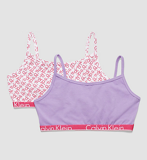 CALVINKLEIN 2 Pack Girls Bralettes - Modern Cotton - REPEAT LG CK LILAC ROSE W/ CHALK VIOLET - CALVIN KLEIN UNDERWEAR - main image