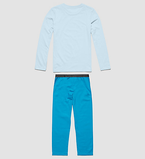 CALVINKLEIN Girls PJ Set - Customized Stretch - 1 CORYDALIS BLUE / 1 MOSAIC BLUE - CALVIN KLEIN PYJAMAS - detail image 1