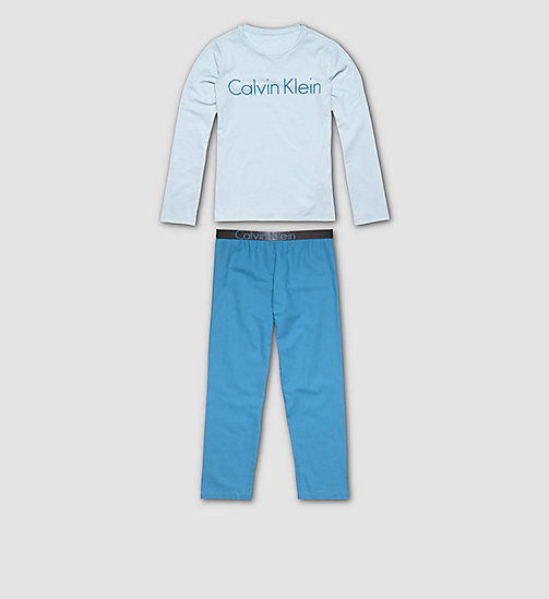 CALVINKLEIN Girls PJ Set - Customized Stretch - 1 CORYDALIS BLUE / 1 MOSAIC BLUE - CALVIN KLEIN PYJAMAS - main image
