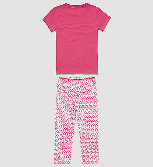 CALVINKLEIN Girls PJ Set - Modern Cotton - LILAC ROSE W/ REPEAT LOGO CK LILAC ROSE - CALVIN KLEIN PYJAMAS - detail image 1