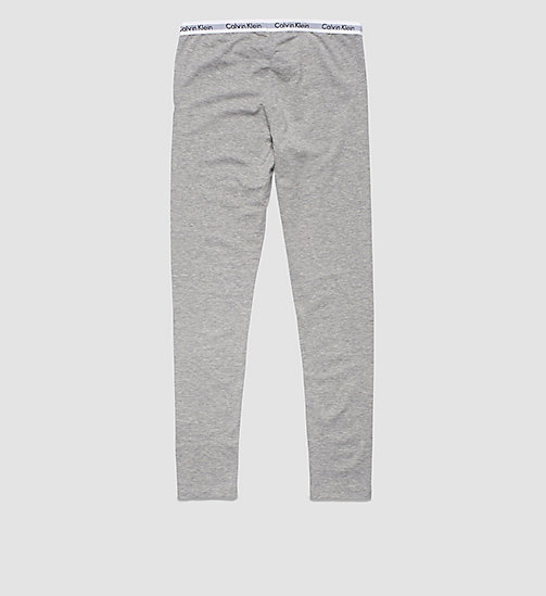 CALVINKLEIN Girls Leggings - Modern Cotton - LIGHT GREY HEATHER - CALVIN KLEIN PYJAMAS - detail image 1