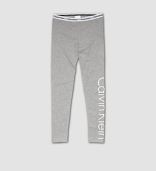CALVINKLEIN Girls Leggings - Modern Cotton - LIGHT GREY HEATHER - CALVIN KLEIN PYJAMAS - main image