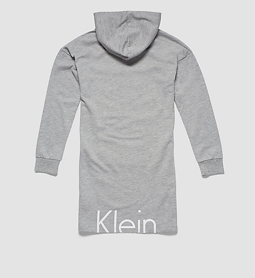 CALVINKLEIN Girls Hooded Dress - Modern Cotton - LIGHT GREY HEATHER - CALVIN KLEIN PYJAMAS - detail image 1
