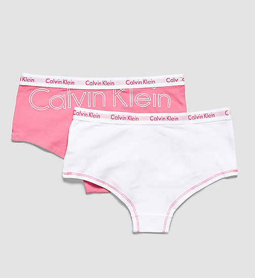 2-pack meisjes hipsters - Modern Cotton - 1 BUBBLE GUM PINK PLACED CLASSIC LOGO / - CALVIN KLEIN DAMES - detail image 1