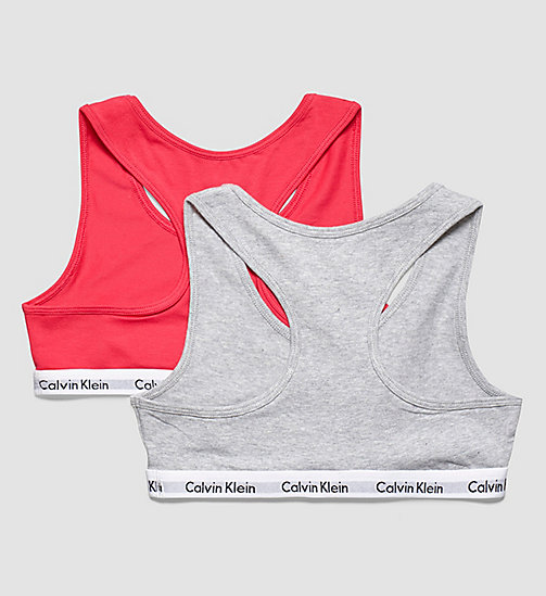 CALVINKLEIN 2 Pack Girls Bralettes - Modern Cotton - 1 AZALEA / 1 GREY HEATHER - CALVIN KLEIN  - detail image 1