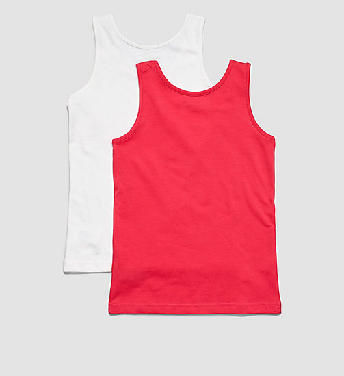 CALVINKLEIN 2 Pack Girls Tank Tops - Modern Cotton - 1 AZALEA / 1 WHITE - CALVIN KLEIN WOMEN - detail image 1