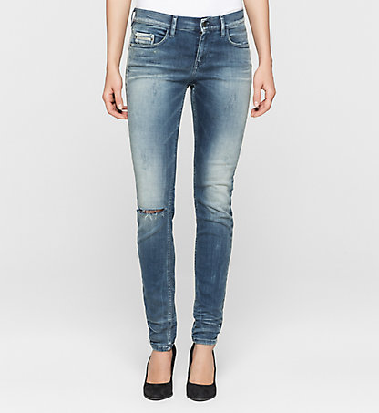 CALVIN KLEIN JEANS Mid-Rise Skinny-Jeans J20J200087914