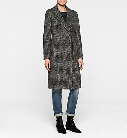 CALVIN KLEIN JEANS Manteau en tweed de laine - October J20J200345059