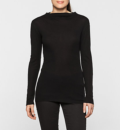 CALVIN KLEIN JEANS Wool Funnel Neck Top - Lalita J20J200364001