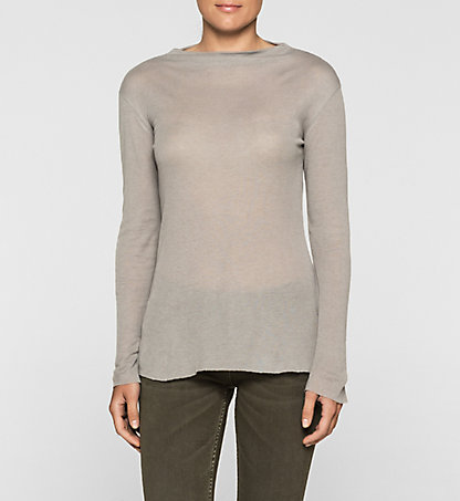 CALVIN KLEIN JEANS Wool Funnel Neck Top - Lalita J20J200364038