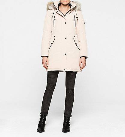 CALVIN KLEIN JEANS Hooded Down Coat - Olympia J20J200380089