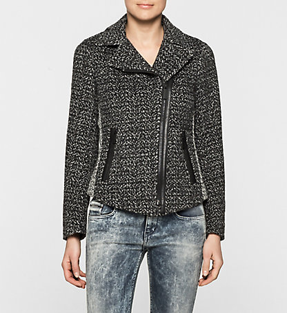 CALVIN KLEIN JEANS Wool Tweed Jacket - Odette J20J200387059