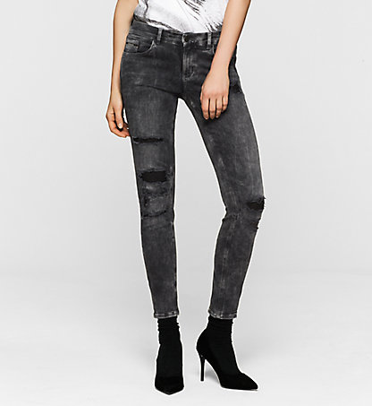 CALVIN KLEIN JEANS Mid-Rise Skinny Ankle-Jeans J20J200432913