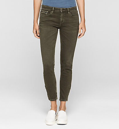 CALVIN KLEIN JEANS Mid-Rise Skinny Ankle-Jeans J20J200627914