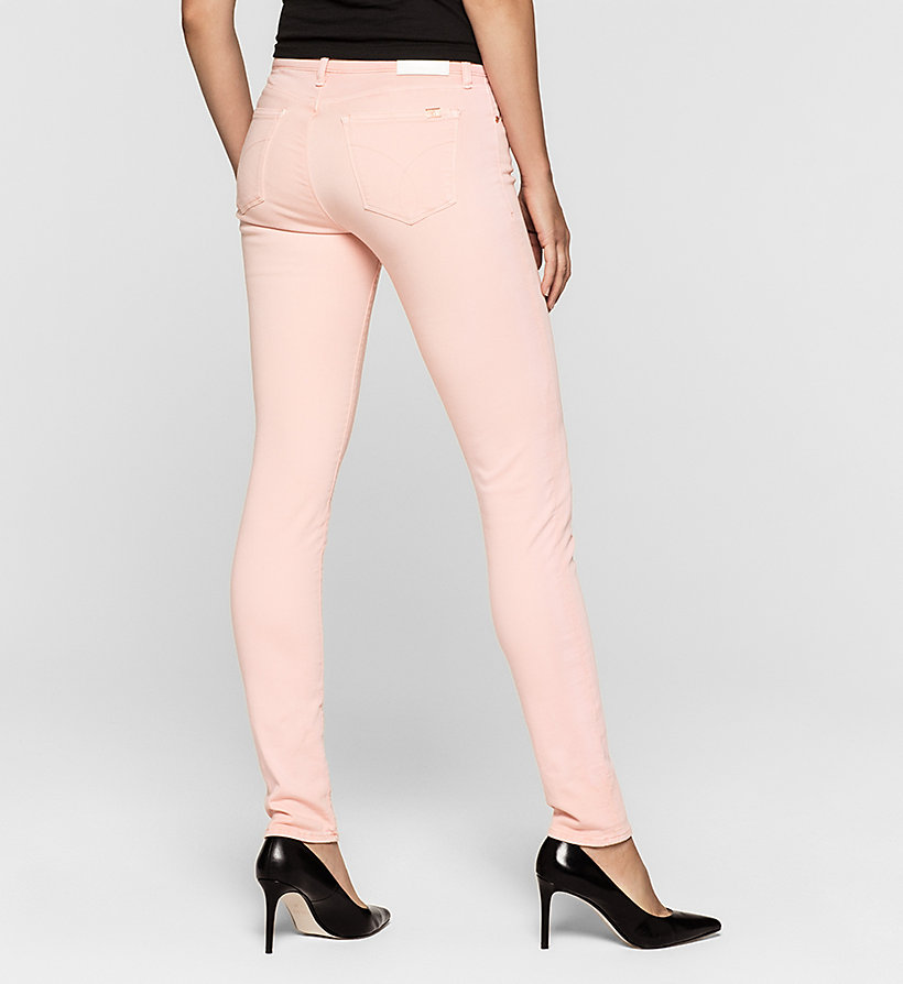 CKJEANS Mid Rise Skinny Trousers - MELLOW ROSE - CK JEANS CLOTHES - detail image 1