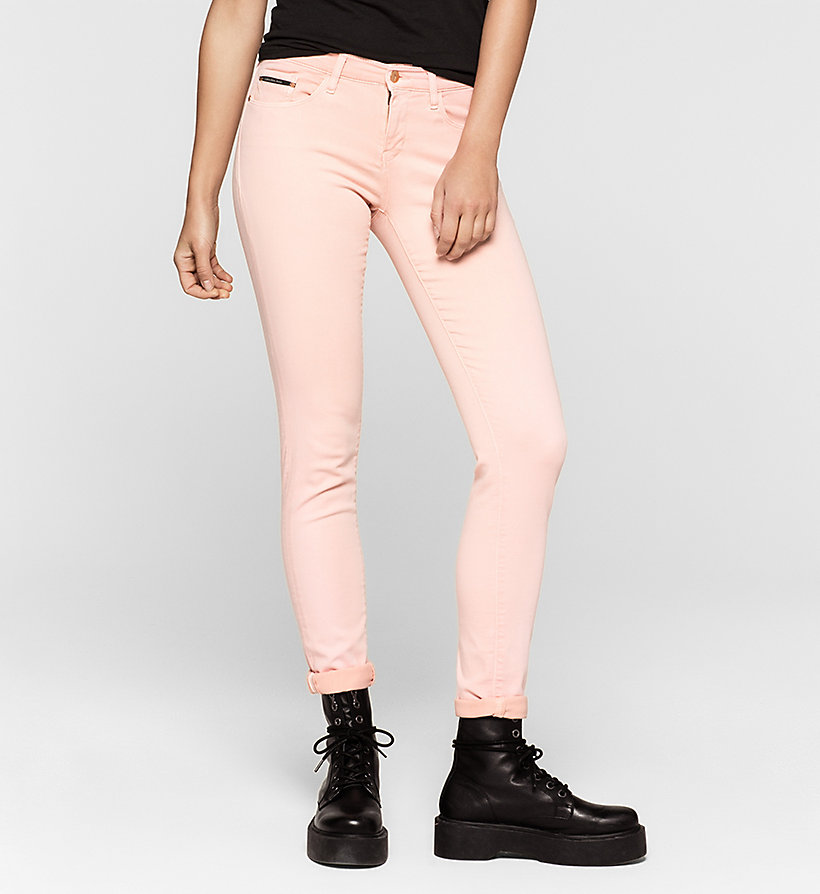 CKJEANS Mid Rise Skinny Trousers - MELLOW ROSE - CK JEANS CLOTHES - main image
