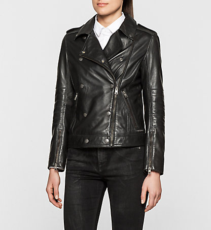 CALVIN KLEIN JEANS Leather Biker Jacket - Aurala J20J200729099