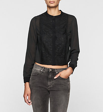 CALVIN KLEIN JEANS Lace Panelled Shirt - Wade J20J200730099