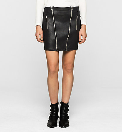CALVIN KLEIN JEANS Coated Jersey Skirt - Kendall J20J200836099